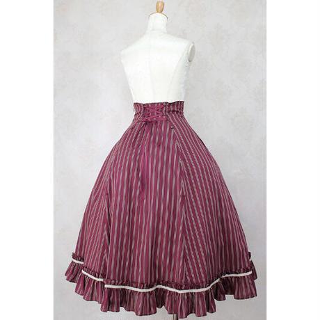 【Victorian maiden】 サマーストライプバッスルスカート