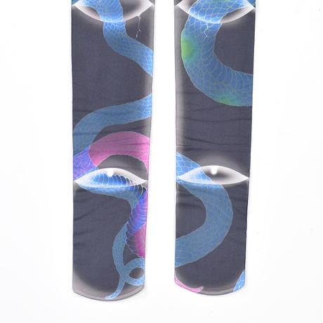 【h.NAOTO】Tattoo Snake Tights/CNJ21-G773 BK/F