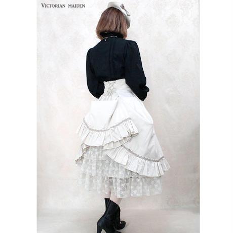 【Victorian maiden】レディバッスルスカート/ボルドー