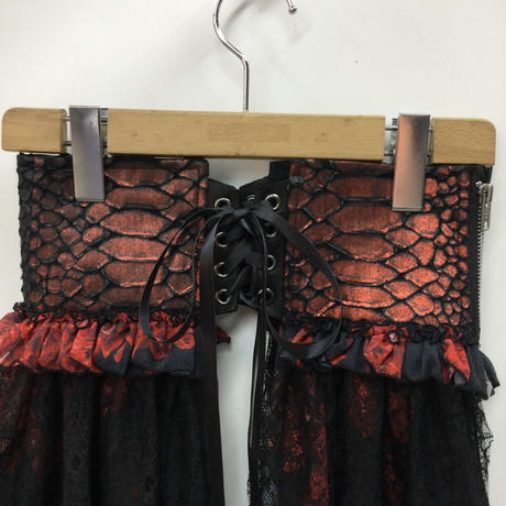 【h.NAOTO】Blood rose Dragon Leather corset/CNF29-G040 BK-RD/M
