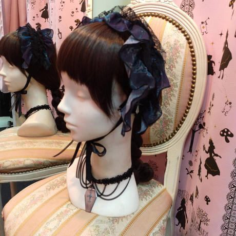 【h.NAOTO】  ヘッドドレス/CNF28-157 BK-BL/F