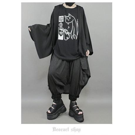 【Deorart】ヴィンテージ仕上げ オーバーサイズTシャツ (アブラナメ)【DRT2580】