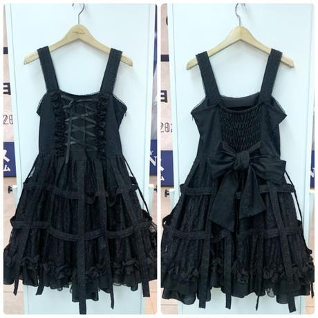 【h.NAOTO】Rose Bird cage dress/CNF28-O241 BK/M