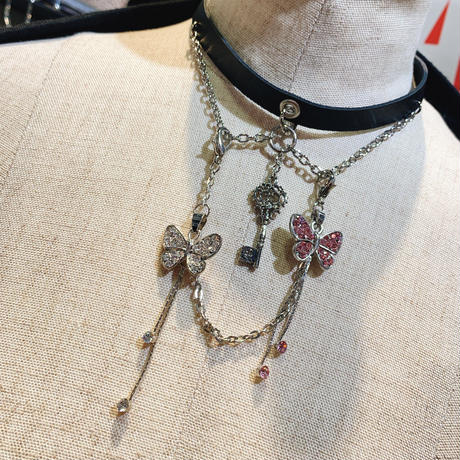 【h.NAOTO】Double butterfly shining MACCESSORY /CNF29-G292 SIL/F