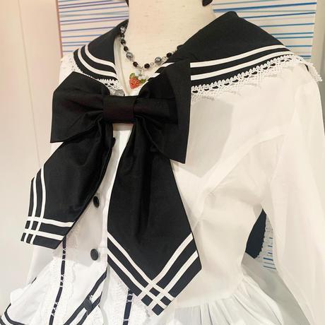 【CHOCO CHIP COOKIE】苺モチーフミックスネックレス/サックス・黒・銀×黒