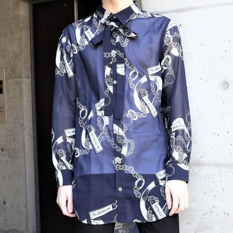 【JURY BLACK 】Chain Pattern Shirt(12123261004)