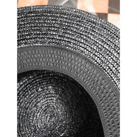 【MIHO MATSUDA】時計ブローチ付きカンカン帽/110054
