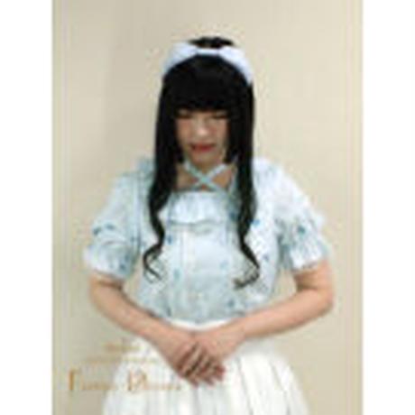 【Amavel】Topping Heart Sugar フリルブラウス/ブラック