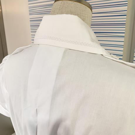 【ATELIER BOZ】バジリスク半袖ブラウス/7494/ホワイト・カーキ