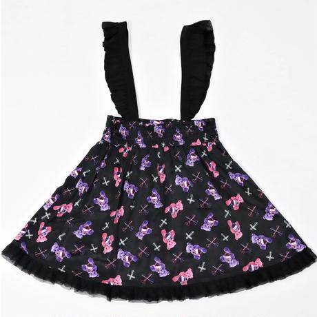 【Amilige】クロスKeyBearレースアップスカート(82173262020)