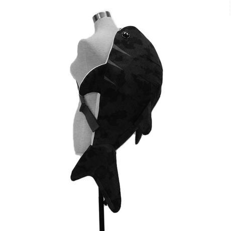 ⚠️問い合わせ必須・受注生産⚠️【KASEI】デカザメ(ジンベイザメ形ボディバッグ)【デニムリメイク】