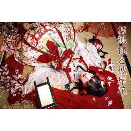 【RoyalPrincessAlice】蝶々振袖レースブラウス(白×赤)