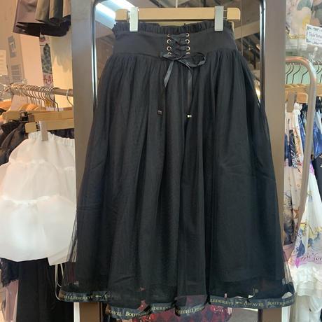 【Amavel】Fantasy ミドル丈チュールスカート/サックス・アイボリー・ ブラック