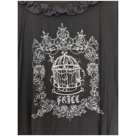 【h.NAOTO】bird cage rose garden top/BFD21-T015