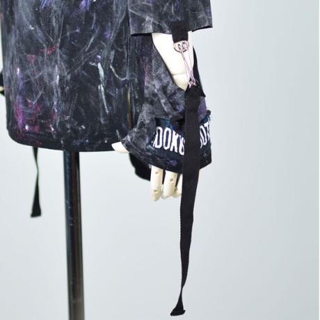 【h.NAOTO】Off-shoulder skull tunic/CNF30-T095 BK/M