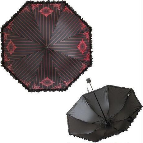 【Lumiebre】エンブレムオブユリシスノワール/折りたたみ傘/ワインレッド