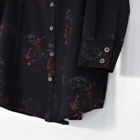 【JURY BLACK 】Skaull Rose Total pattern shirt(12123261001)