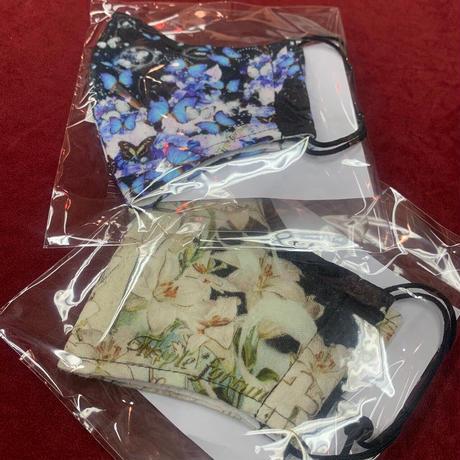 【Triple*fortune】オリジナルプリントマスク/黒地
