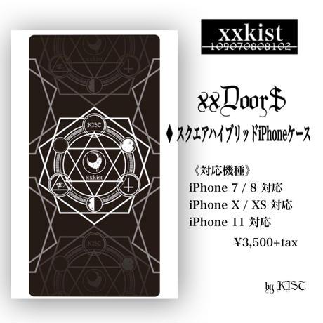 【xxkist】xxDoor$スクエアハイブリッドiPhoneケース