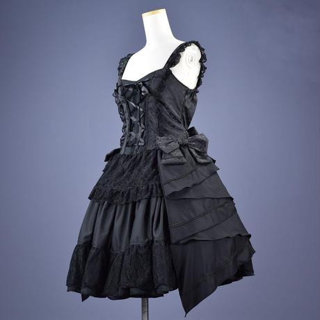 【h.NAOTO】Big Bow dress/BFD21-O024 BK/M