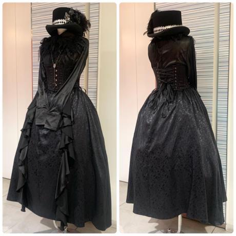 【h.NAOTO】 Ruffle jacquard long skirt/CNF30-S124