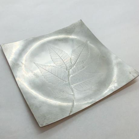 木の葉 プレート 錫引き