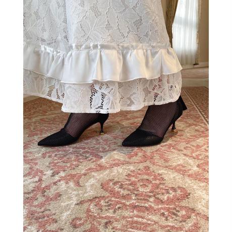 mesh heel sandal