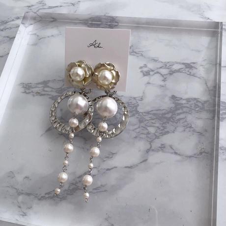 handmade  flower earring  -606-