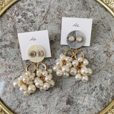 handmade  pearl earring  -644-