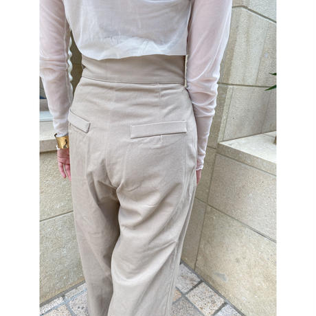 wide chino pants -FA486-