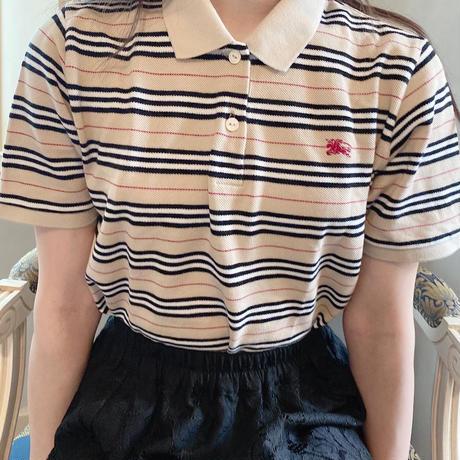 Burberry vintage polo shirt -B032-