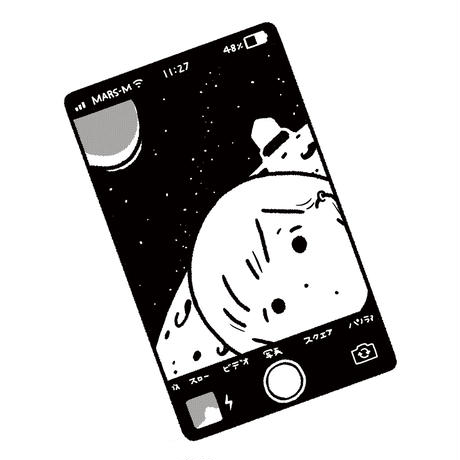 「selfie on mars」ナイロンショルダー