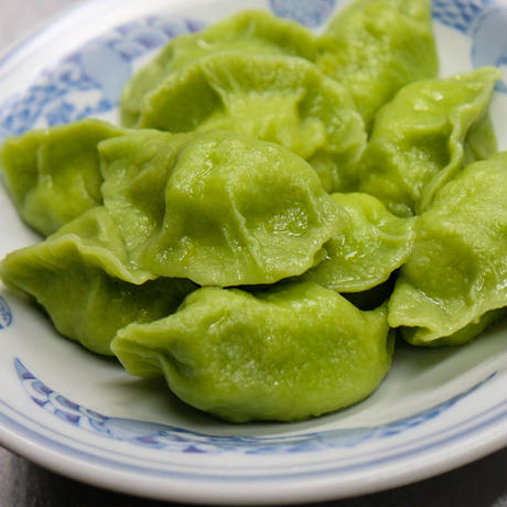 三鮮翡翠水餃子(サンセンヒスイスイギョウザ)(海老、ニラ、玉子)(冷凍)10ヶ入り