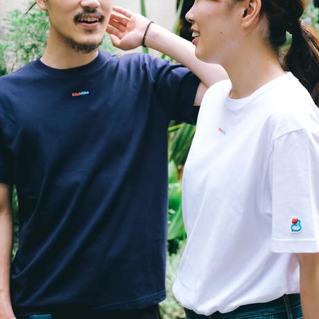 KitchHikeロゴ 入り定番Tシャツ: ネイビー