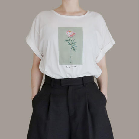 La pivoine ロールアップTシャツ