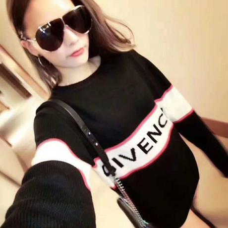 ジバンシィ/Givenchy   セーター 長デザイン ブラック 2017新作 男女兼用