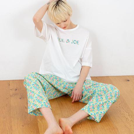 フラワーサテンプリント PAUL&JOE Tシャツ セットアップ PJR124-02201