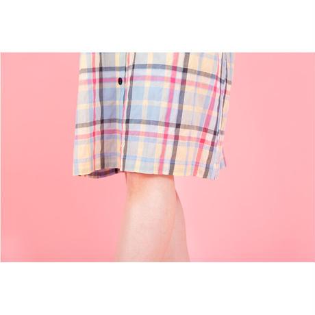 シャーリングチェック ドレス  PJR114-02111