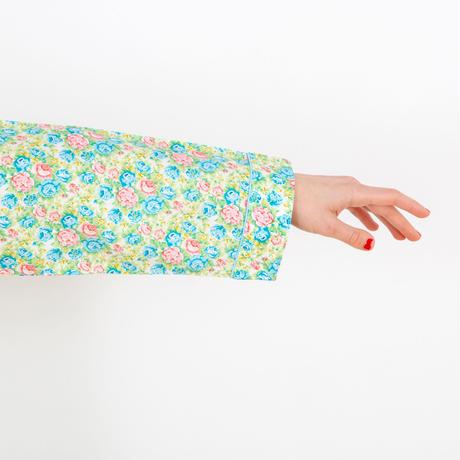 フラワーパターンサテンプリント ドレス PJR101-01110