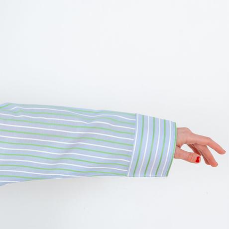 ストライプ ロングスリーブ シャツ セットアップ  さわやかなカラーを楽しむルームウエア PJR111-01100
