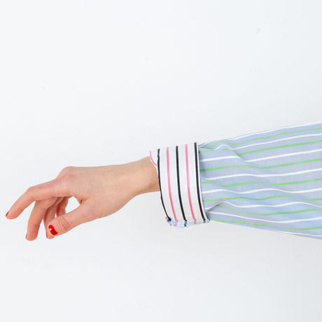 ストライプ シャツ ワンピストライプ シャツ ワンピース  さわやかなカラーを楽しむルームドレス PJR110-01110