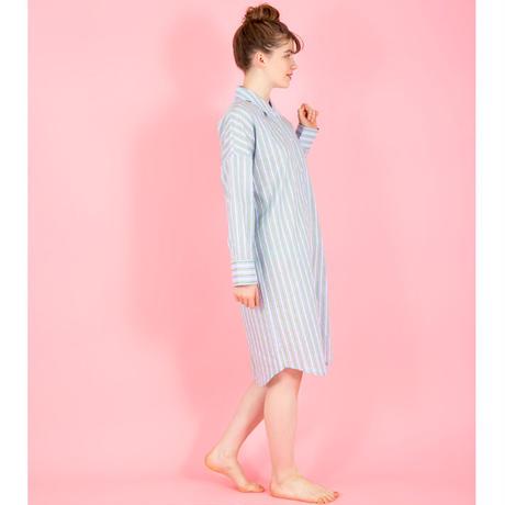 【SALE】ストライプ シャツ ワンピストライプ シャツ ワンピース  さわやかなカラーを楽しむルームドレス PJR110-01110