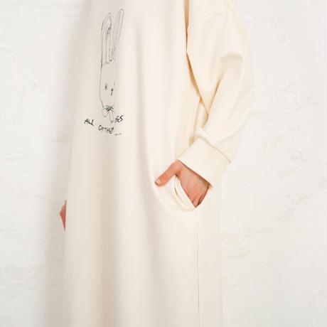 うさぎ裏フリース ホームドレス PJR147-04210
