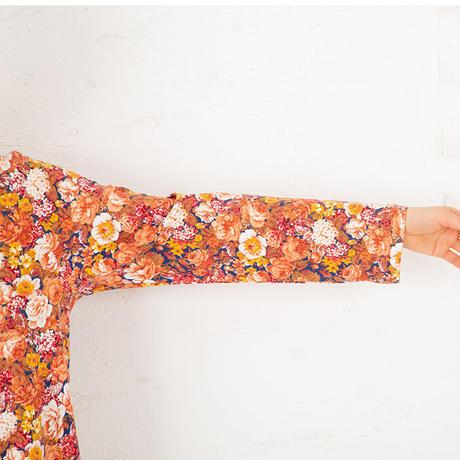 ロマンティックフラワー ロングスリーブドレス  PJR139-03210