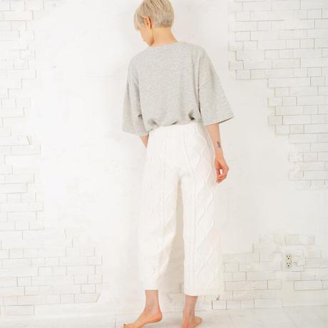 ケーブル編みニットジャガード ルームパンツ 「あたたかさ、ぎゅっと。」  PJR158-04227 ※パンツのみ