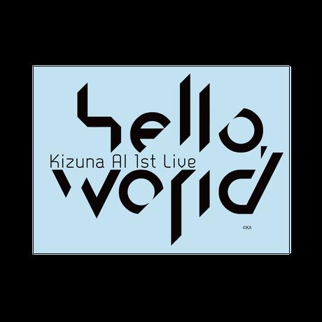 【hello, world 2018 限定再販】ステッカー ロゴ
