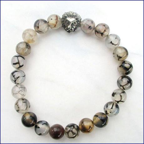 Lava stone bracelet (U0028-e)