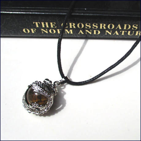 Dragon Wrap Natural  Tigereye Gemstone Necklace  (U0054-e)