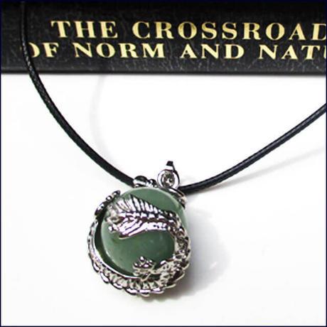 Dragon Wrap Natural Aventurine Gemstone Necklace  (U0049-e)