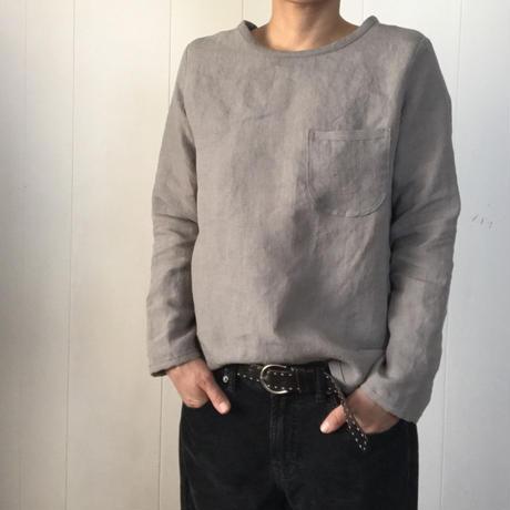 リネンのすっきりTシャツ  長袖